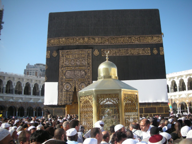 Be prepared for a lot of pushing and shoving at these two places- near the door of the Kaaba and the Maqam-i-Ibrahim.