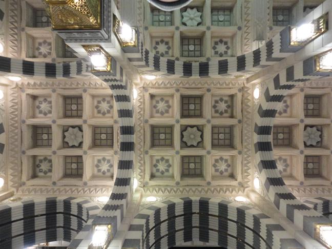 Ceiling inside Masjid al Nabwi