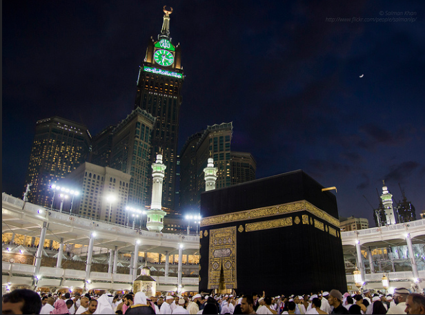 The famous Clock Tower of Makkah.