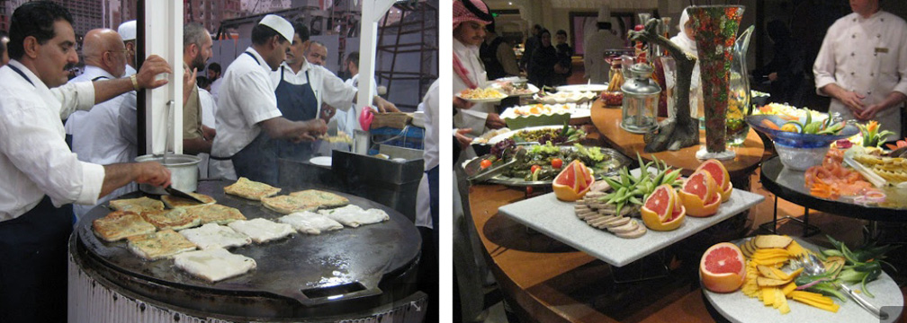 Street food and hotel food in Mecca