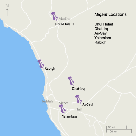 Miqaat Locations