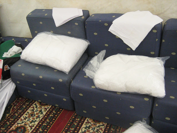 Sofa beds in Mina tent