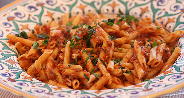 Penne Pasta With Meat Sauce Recipes — Dishmaps