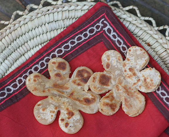 Flower Shaped Parathas