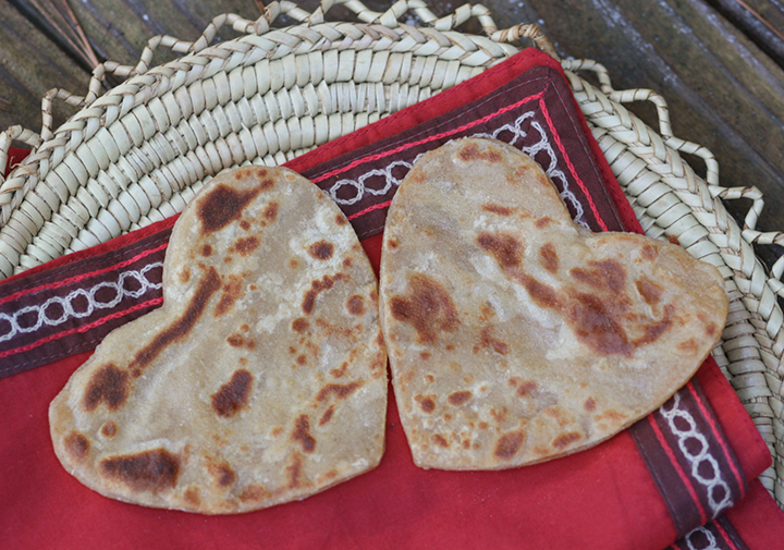 Heart Shaped Parathas