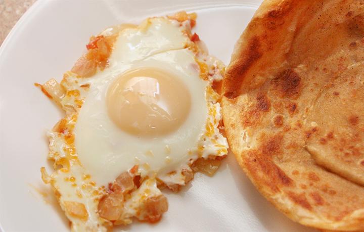 Hyderabadi Eggs with Mom's Golden Paratha