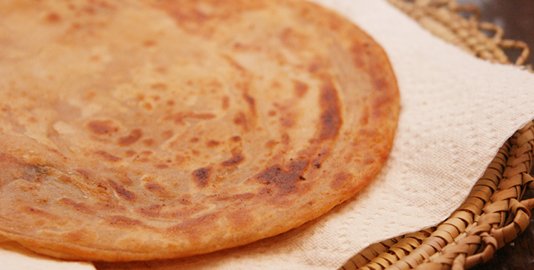 Mom's Golden Parathas