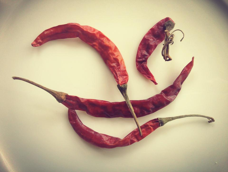 These are the dried red chilies that I use.
