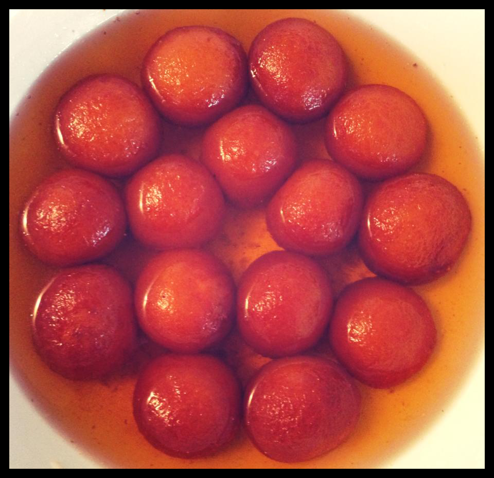 Gulab Jaman. The last batch I made turned out the best of all. The surface was smooth and even without cracks and they rose beautifully.