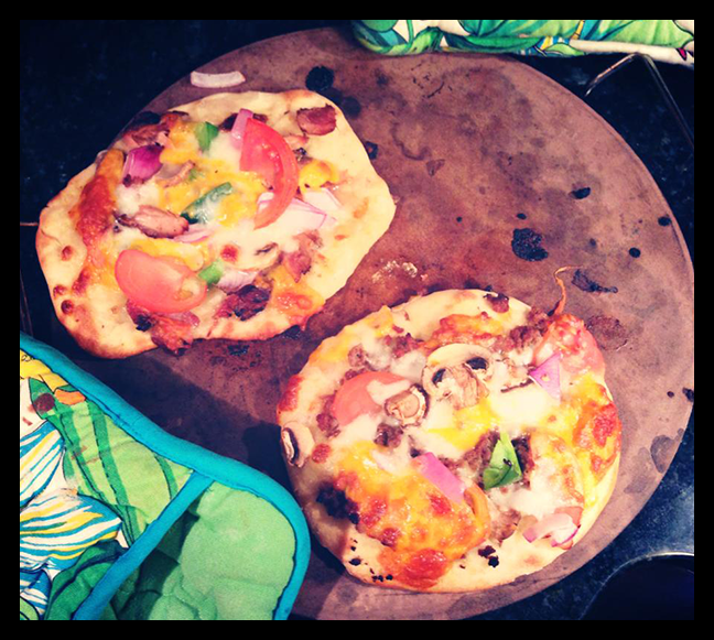 Home made mini pizzas