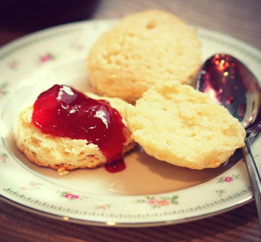 Plum Jam with Scones