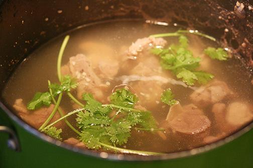 Yakhni for the pulao.